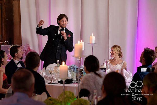 Hochzeitsreportage in Laubach - Ansprache des Bräutigams