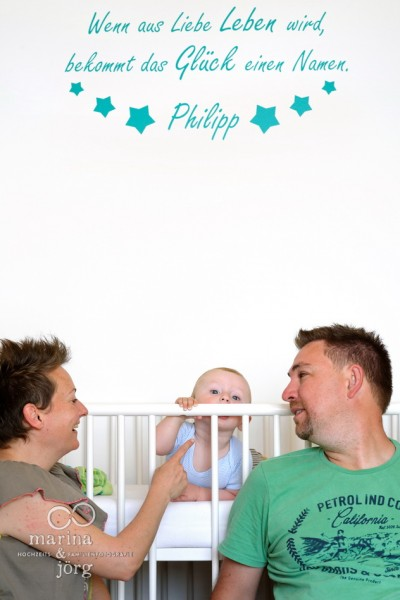 Homestory / Familienreportage bei Gießen: Familienfoto