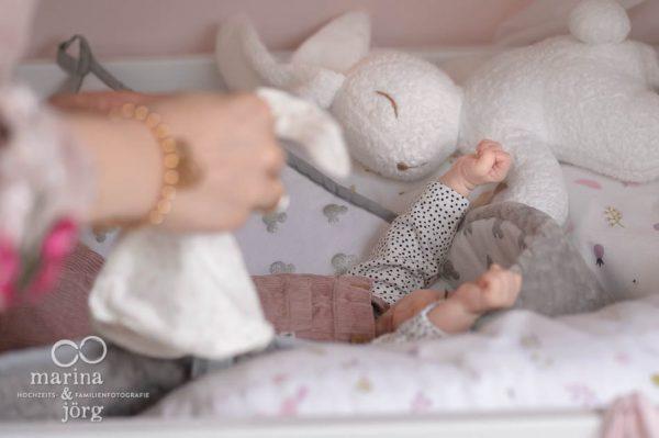 Familienreportage bei Marburg - Babyfotos entstanden bei einer Homestory