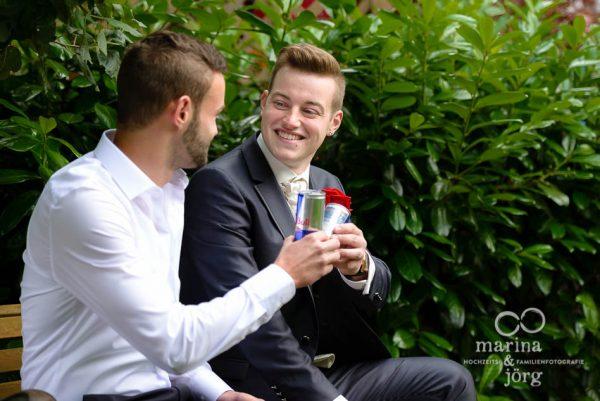 Marina und Joerg, Hochzeitsfotografen Giessen: Getting-Ready des Braeutigams