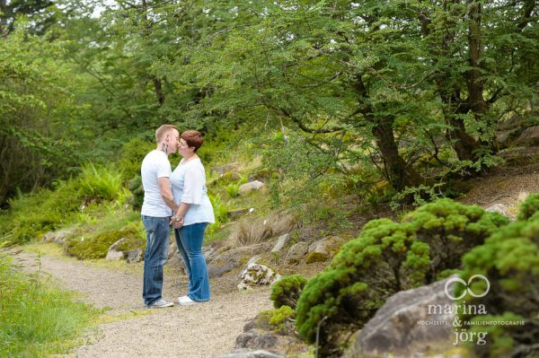 Marina und Joerg, Fotografen Wetzlar: Paarfotos im Botanischen Garten