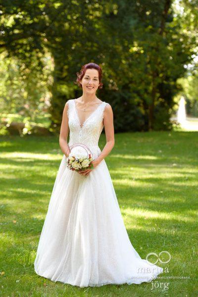 Foto der Braut bei einer Hochzeit auf Schloss Buseck bei Gießen