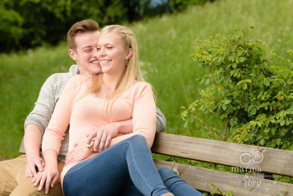 Marina und Jörg, Hochzeitsfotografen Gießen: Kennenlern-Shooting bei der Burgruine Frauenberg bei Marburg - romantische Paarfotos