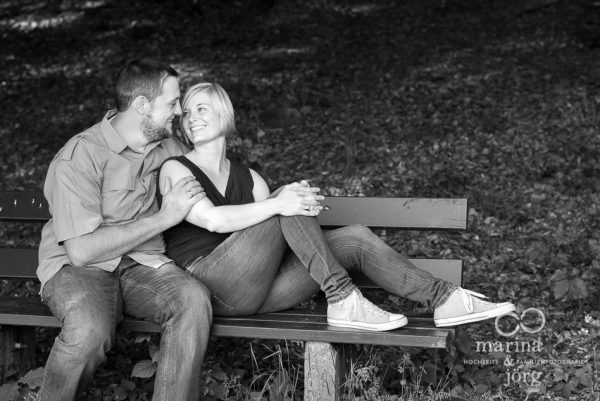 Marina und Joerg, Hochzeits-Fotografen Giessen: modernes Paarportait