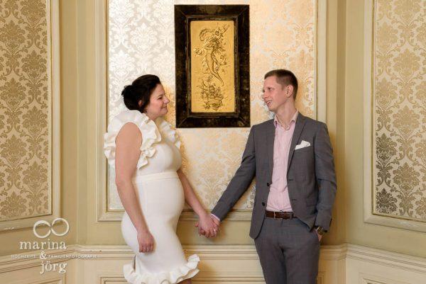 Hochzeits-Fotograf Gießen: Paar-Fotoshooting nach einer Trauung in der Villa Leutert