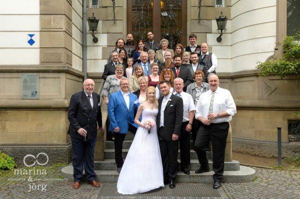 Hochzeit im Standesamt Villa Leutert in Gießen - Gruppenfoto
