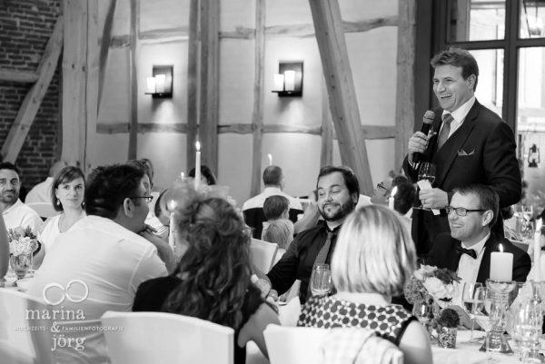 Marina und Joerg, Hochzeitsfotografen Giessen: Rede des Braeutigams
