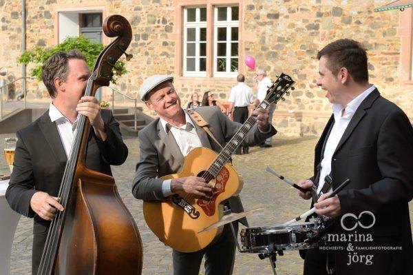 Live-Musik beim Sektempfang - Hochzeit im Schloss Butzbach bei Gießen