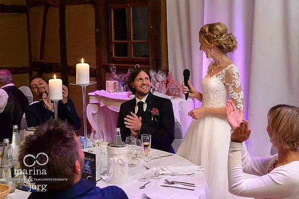 Ansprache der Braut bei einer Hochzeit in Laubach