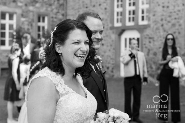 Hochzeitsreportage auf Schloss Butzbach - Empfang des Brautpaars