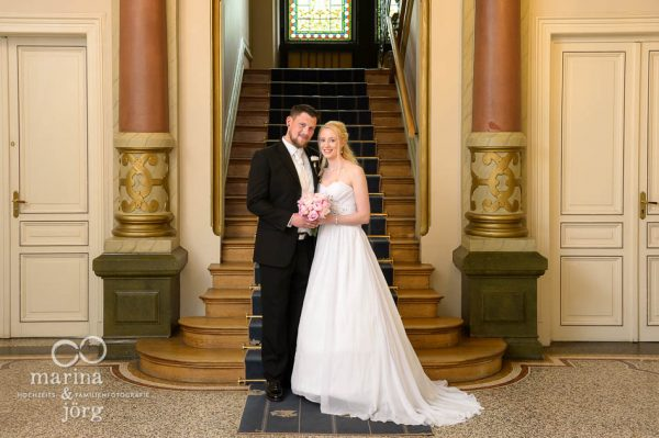 Hochzeit im Standesamt in der Villa Leutert in Gießen: Paar-Fotoshooting