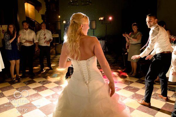 Marina und Joerg, Fotografen-Paar Giessen: Hochzeits-Party auf Schloss Rauischholzhausen