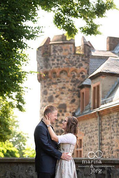 Hochzeits-Fotograf Gießen - Paarfoto bei einer Hochzeit auf Burg Staufenberg