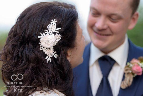 Haarschmuck der Braut - Hochzeitsfotograf Butzbach