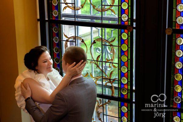 Hochzeitsfotograf Gießen: Paar-Fotoshooting nach einer Hochzeit in der Villa Leutert