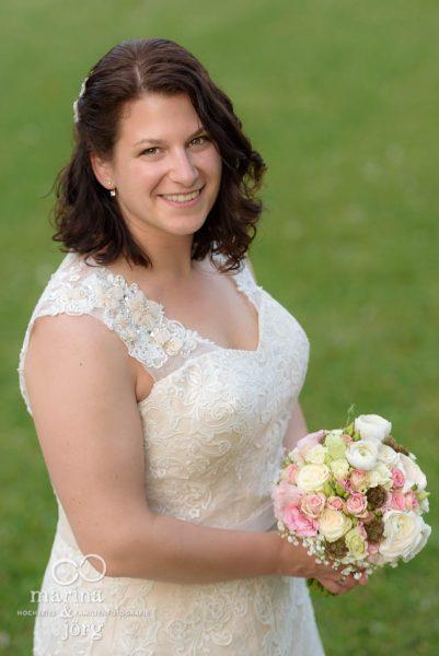 Marina und Jörg, Hochzeitsfotografen Gießen: Portrait der Braut