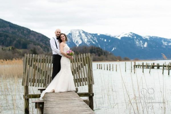 Hochzeitsfotografen Gießen: After-Wedding-Shooting am Tegernsee - Hochzeitsfotos vor traumhafter Bergkulisse