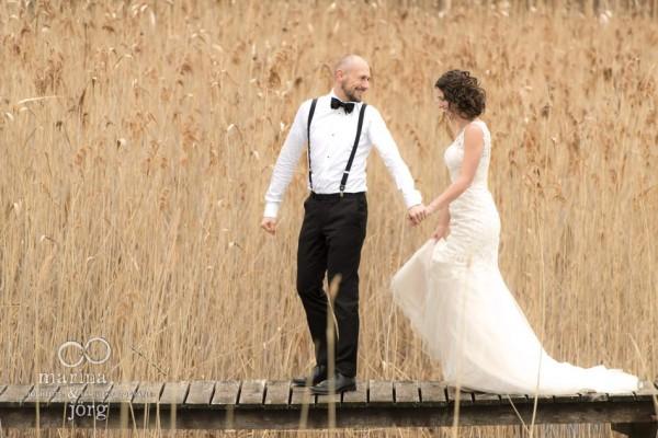 Marina & Jörg, Hochzeitsfotografen Gießen: romantisches Hochzeitsfoto
