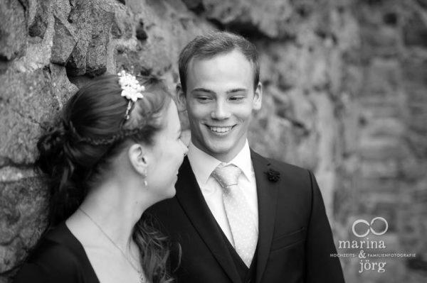 Marina und Joerg, Hochzeitsfotografen Giessen: romantisches Paarportrait