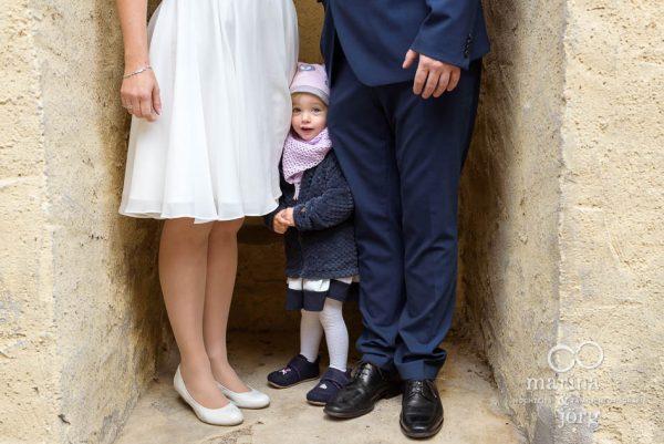 Paar-Fotoshooting bei einer Hochzeit bei Gießen - Heiraten mit Kind
