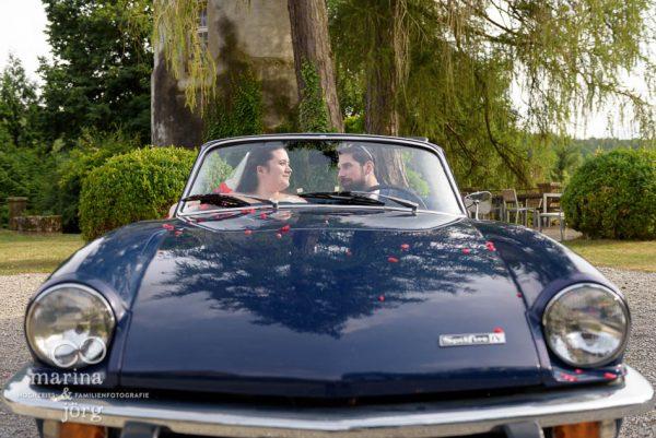 Triumph Spitfire als Hochzeitsauto - Hochzeitsfotograf Gießen