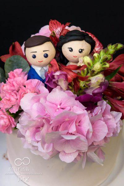 Hochzeitstorte - bei einer Hochzeitsreportage im Gartenhaus Wyss in Ostermundigen bei Bern - Hochzeitsfotograf Gießen