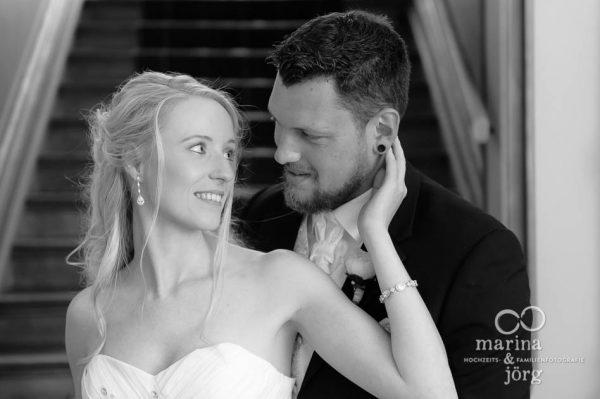 Hochzeitsfotografen Gießen: Paarportrait bei einer Hochzeit im Standesamt Villa Leutert in Gießen