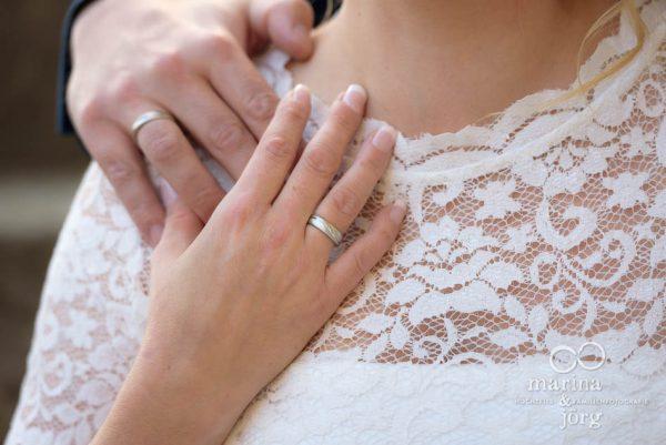 Trauringe bei einer Hochzeit bei Gießen