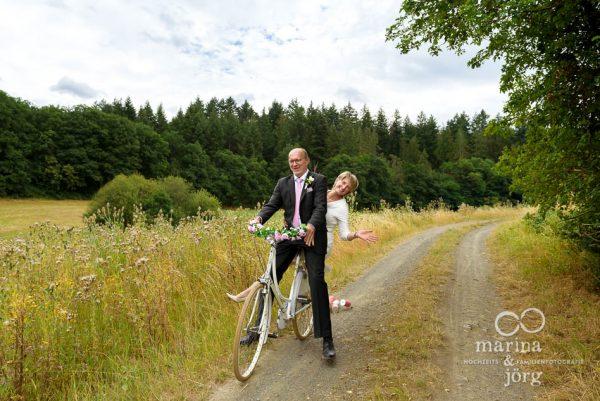 Hochzeit in Gladenbach: auf dem Fahrrad in die Flitterwochen
