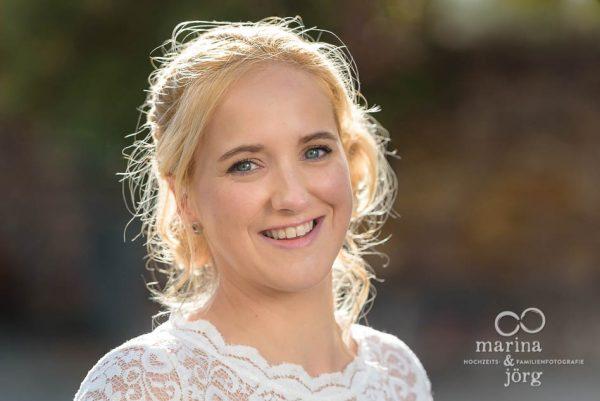 Portrait der Braut - Marina & Jörg, Hochzeitsfotografie Marburg