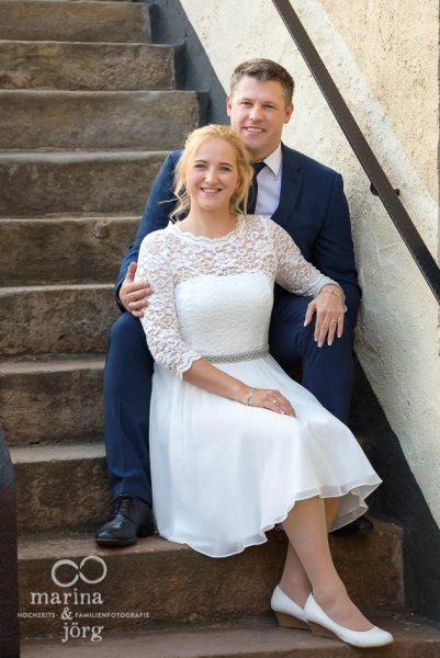 Hochzeitsfotografen für Gießen und Umgebung: Paarportrait bei einer Hochzeit in der Burg Rockenberg