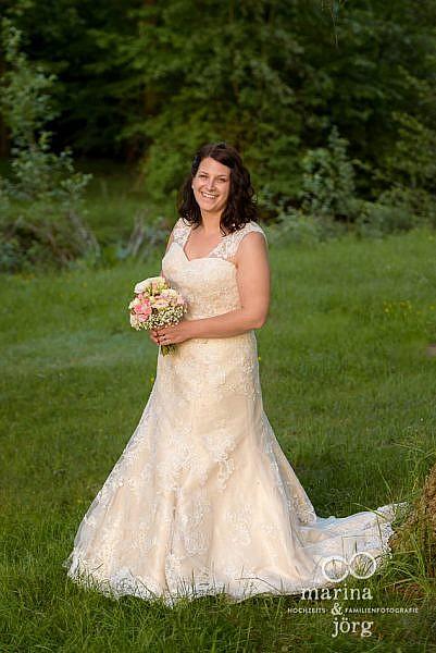 Marina & Jörg - Hochzeitsfotografie Gießen: Portrait der Braut bei einem After-Wedding-Fotoshooting in Gießen