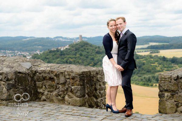 klassisches Brautpaarportrait auf Burg Gleiberg bei Giessen