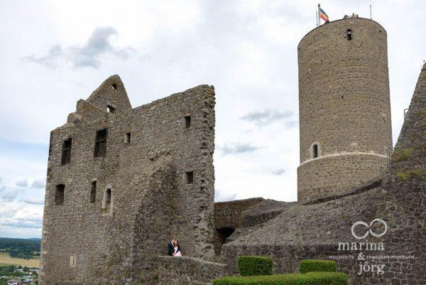 Hochzeitsfoto auf Burg Gleiberg bei Giessen