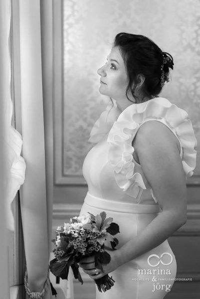 Portrait der Braut bei einer standesamtlichen Hochzeit in Gießen