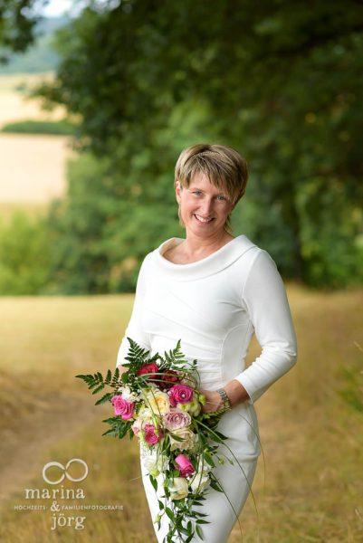 Portrait der Braut bei einer Hochzeits-Shooting in Gladenbach