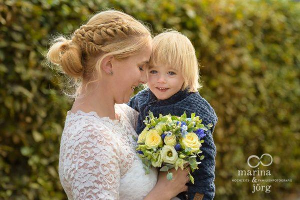 Braut bei einer Hochzeit im Standesamt Rockenberg bei Gießen