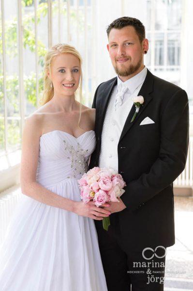 Hochzeitsfotograf Giessen: Paarportrait vor einer Hochzeit im Standesamt Villa Leutert in Gießen