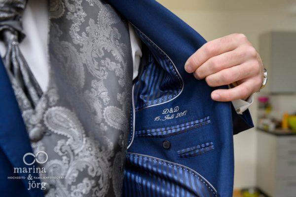 Hochzeits-Fotograf Gießen: Detail des Hochzeitsanzugs