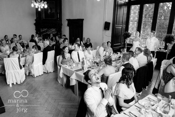 Marina und Joerg, moderne Hochzeitsreportage in Marburg: Rede des Braeutigams