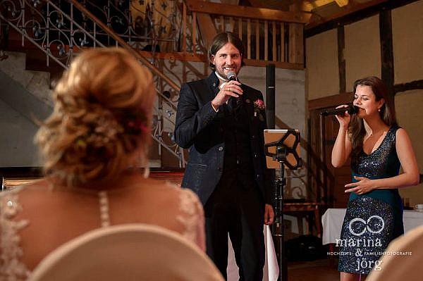 Hochzeitsreportage in Laubach: Lied des Bräutigams