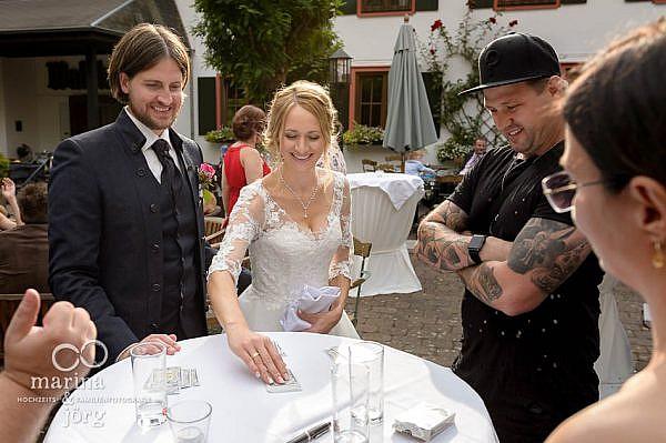 Hochzeitsfotograf Laubach: Zauberer bei einer Hochzeit im Landhotel Waldhaus