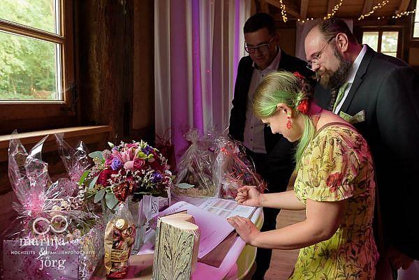 Hochzeitsreportage in Laubach - Gästebuch