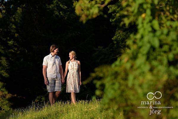 Marina und Jörg, Fotografen-Paar aus Gießen: Paar-Fotoshooting im Schloss Laubach (Engagement-Shooting)