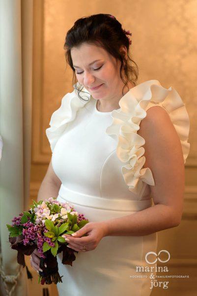 Marina und Jörg, Hochzeitsfotografen für Gießen: Brautfoto bei einer Hochzeit in Gießen