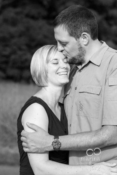 Marina und Joerg, Hochzeits-Fotografen Giessen: romantisches Paarportrait