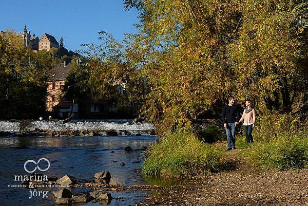 romantisches Paar-Engagement-Fotoshooting in Marburg
