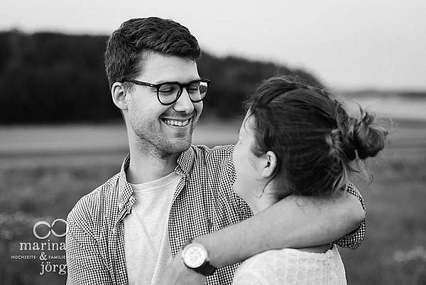 Paarfoto von den Hochzeitsfotografen Marina und Jörg aus Gladenbach