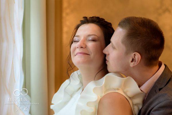 romantisches Hochzeitsfoto in der Villa Leutert in Gießen - Marina & Jörg, Fotografen für eure Traumhochzeit