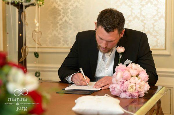 Hochzeitsfotografie: Standesamt Villa Leutert in Gießen
